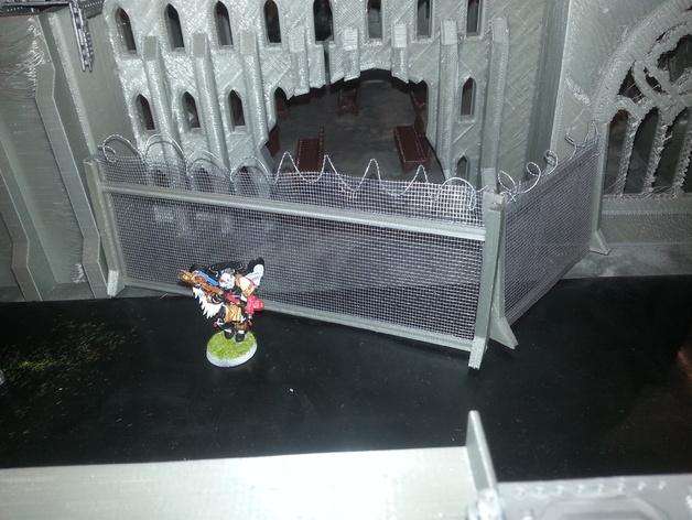 废墟 篱笆 栅栏 3D打印模型渲染图