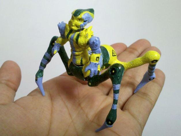 蜘蛛外星人 3D打印模型渲染图