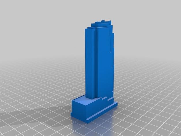 纽约通用电气公司大楼 3D打印模型渲染图