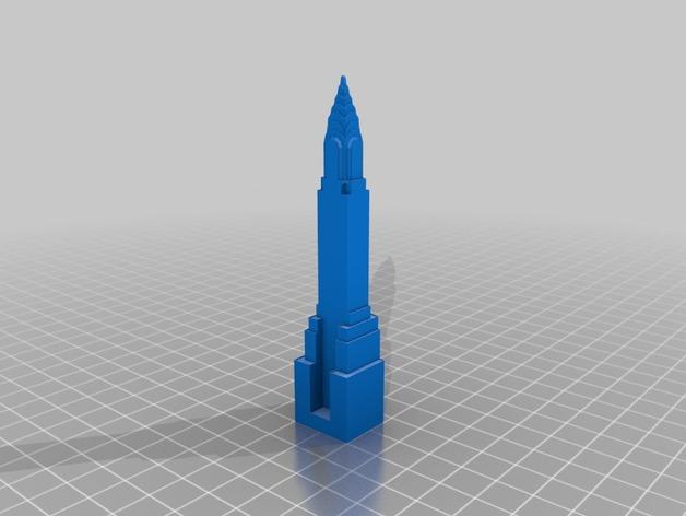 克莱斯勒大厦 3D打印模型渲染图