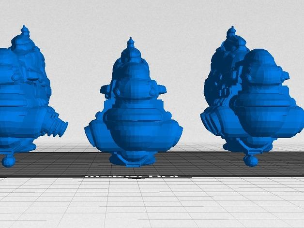 Eve Online星战前夜无畏号星舰 3D打印模型渲染图