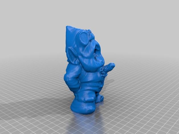 外星小矮人 3D打印模型渲染图