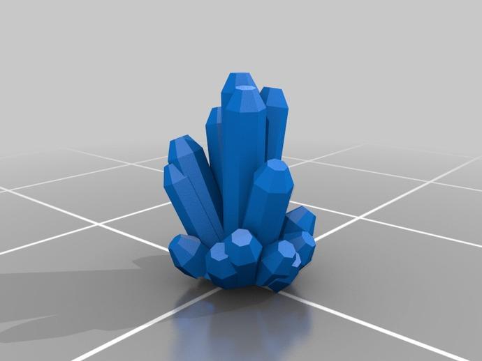幸运水晶 3D打印模型渲染图