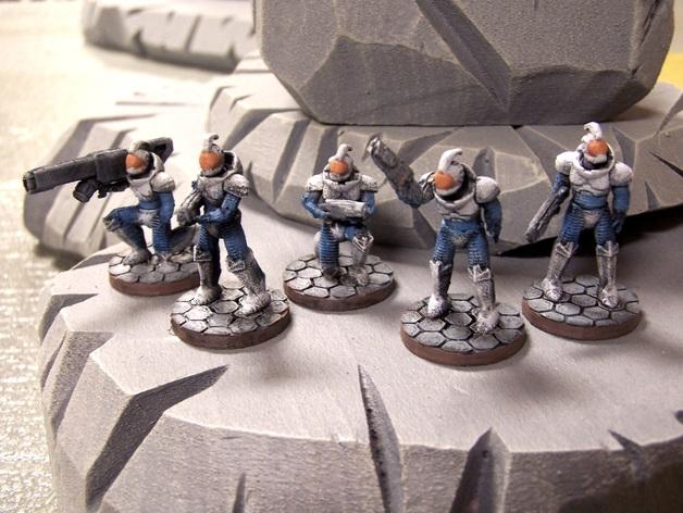 游戏造型 战士 3D打印模型渲染图
