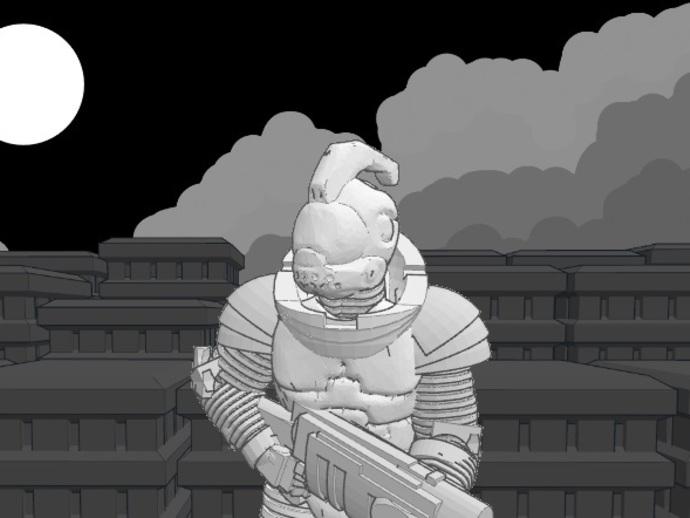 游戏造型 战士