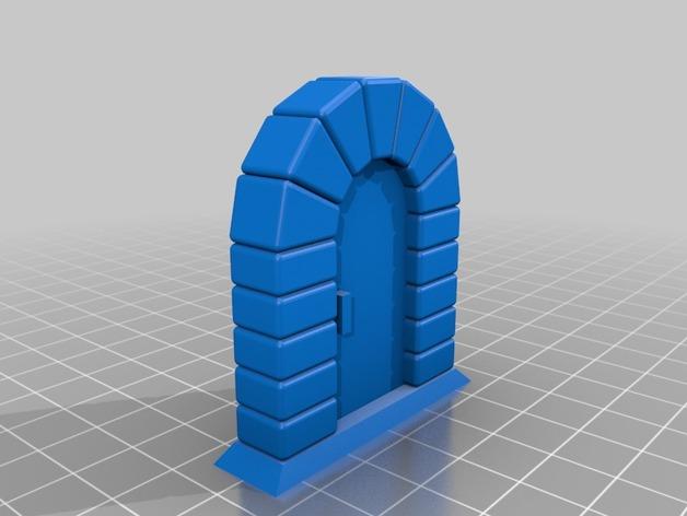石门 3D打印模型渲染图