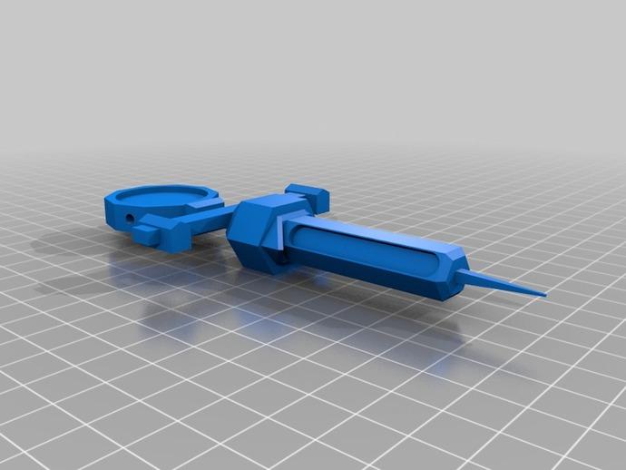 辐射新维加斯注射器 3D打印模型渲染图