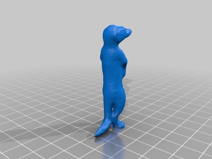 狐獴 3D打印模型渲染图