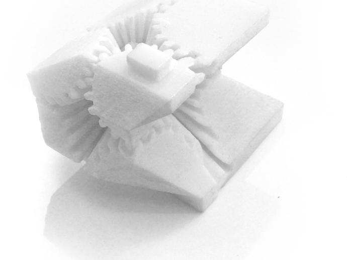 西雅图中心图书馆 建筑模型 齿轮盒 3D打印模型渲染图