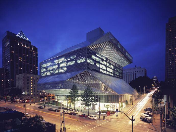 西雅图中心图书馆 建筑模型 齿轮盒