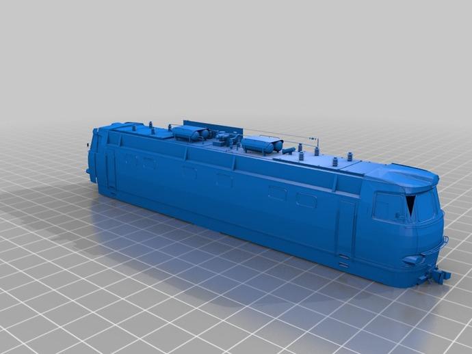 CHS4火车头 3D打印模型渲染图