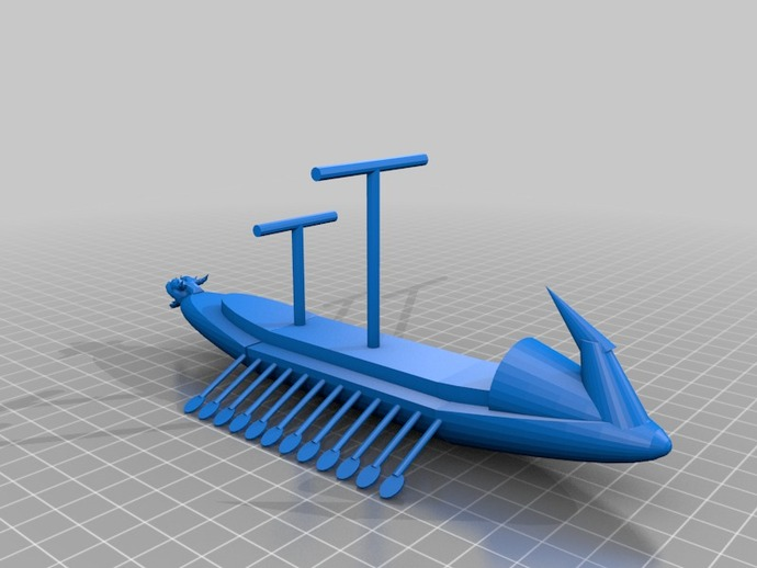 希腊战船Argo II 3D打印模型渲染图