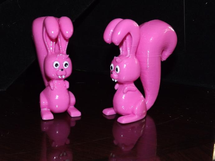 松鼠兔 3D打印模型渲染图