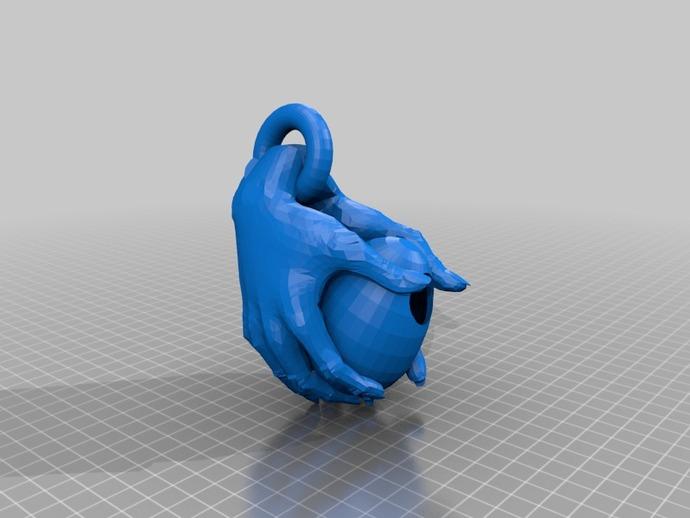 鸟屋 3D打印模型渲染图