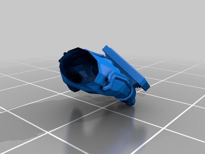 新维加斯拳套 3D打印模型渲染图