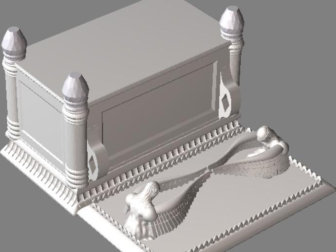 约柜 盒子 3D打印模型渲染图