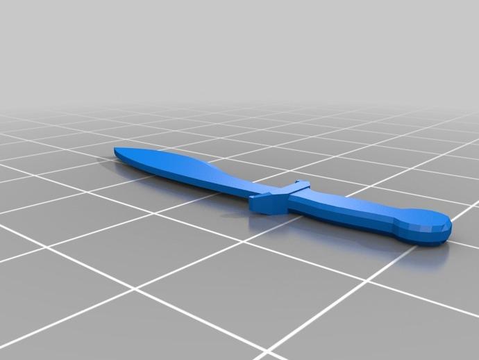 新维加斯砍刀 短剑 3D打印模型渲染图