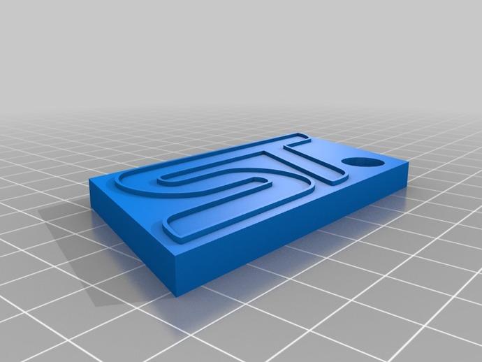 福特福克斯ST汽车标志钥匙扣 3D打印模型渲染图