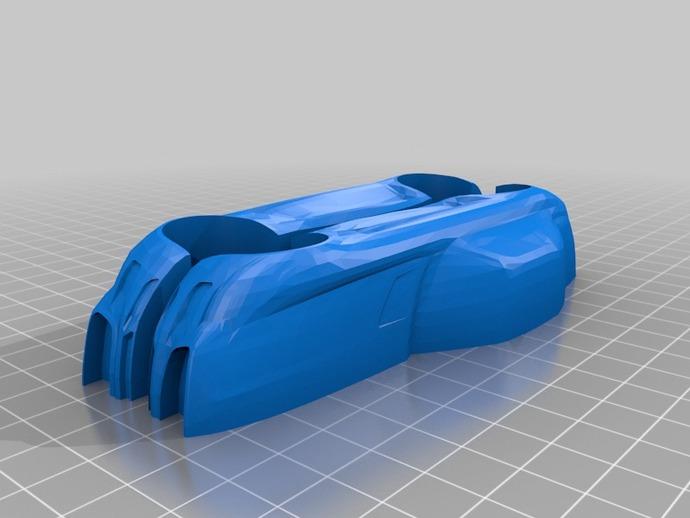 梅赛德斯跑车 3D打印模型渲染图