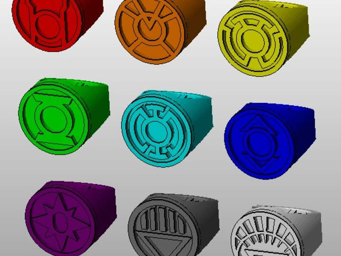 七灯军团指环 3D打印模型渲染图