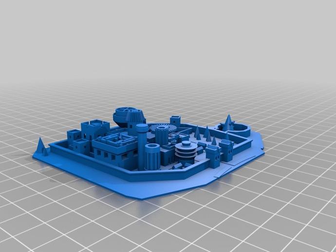 临冬城 建筑模型