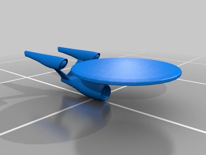 NCC-1701进取号星舰 3D打印模型渲染图