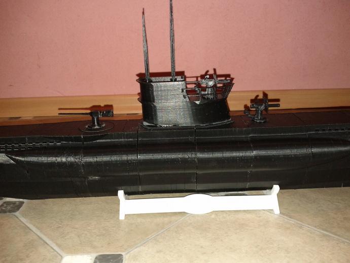 U型潜艇 3D打印模型渲染图