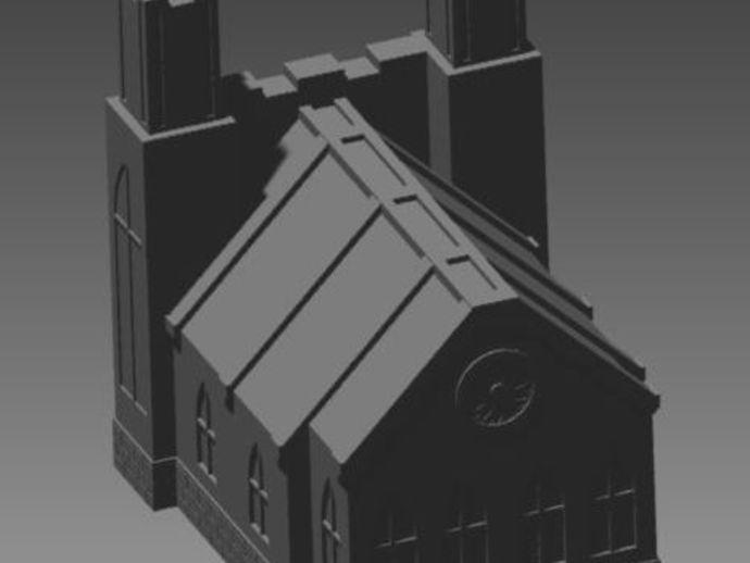 教堂 建筑模型