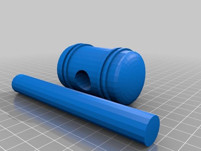 小木槌 3D打印模型渲染图