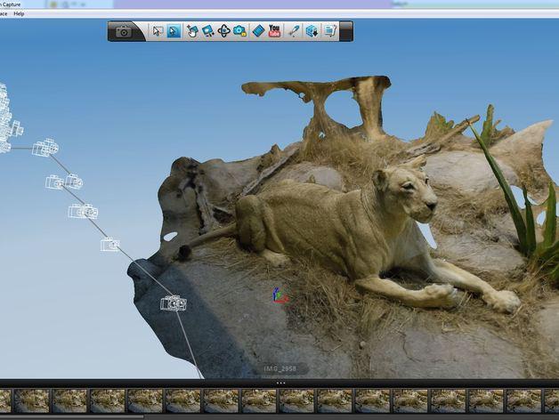 狮子 3D打印模型渲染图