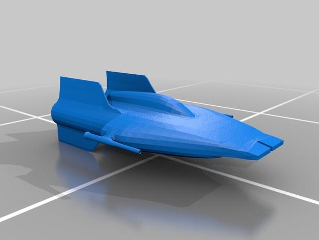 A翼战斗机 3D打印模型渲染图