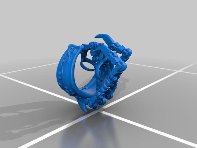 机械爪 3D打印模型渲染图