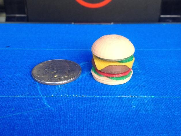 芝士汉堡 3D打印模型渲染图
