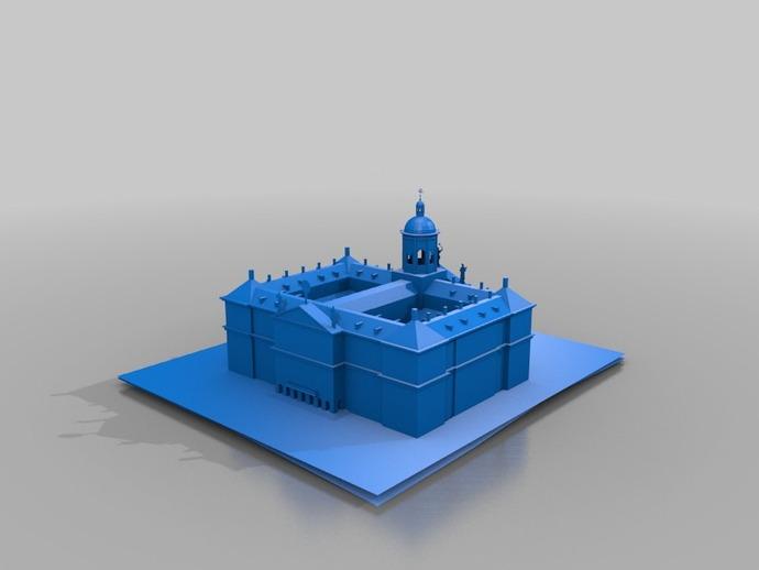 水坝广场皇家宫殿 3D打印模型渲染图