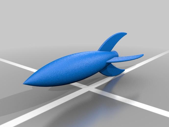 太空飞船 3D打印模型渲染图