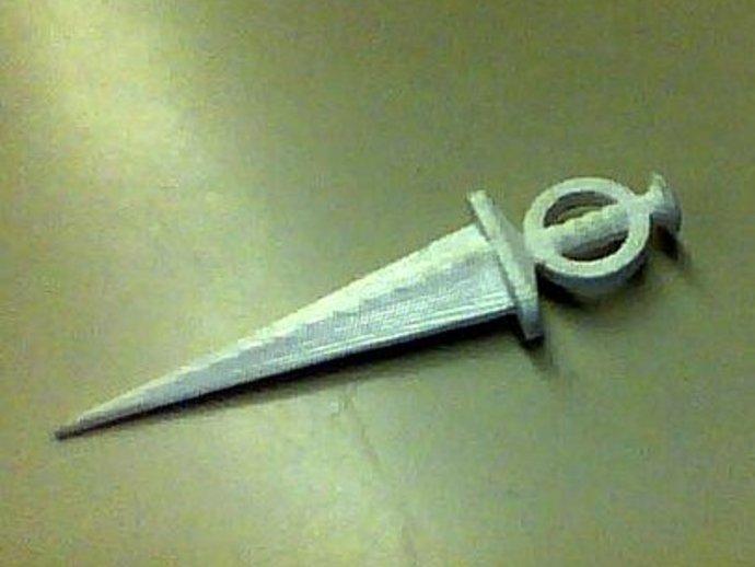 短匕首 3D打印模型渲染图