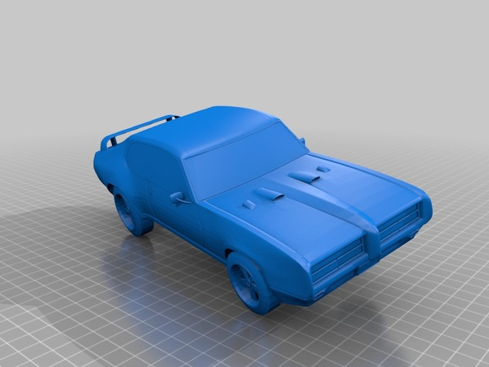 GTO Judge赛车 3D打印模型渲染图