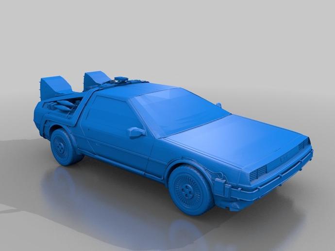 Delorean德劳瑞恩汽车 3D打印模型渲染图