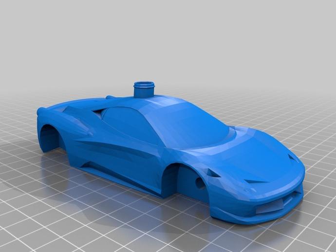 Ferrari 458 法拉利跑车 3D打印模型渲染图