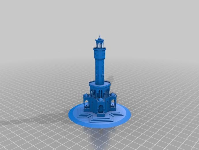 钟塔 钟楼 3D打印模型渲染图