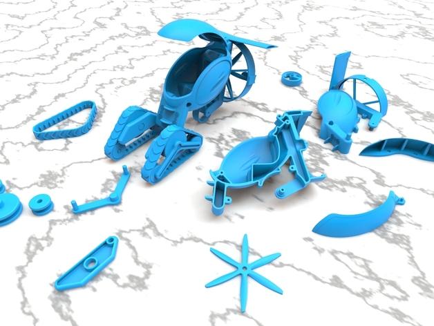 未来的运输车 3D打印模型渲染图
