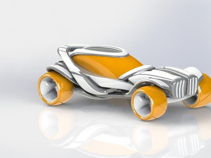 概念式超级跑车 3D打印模型渲染图
