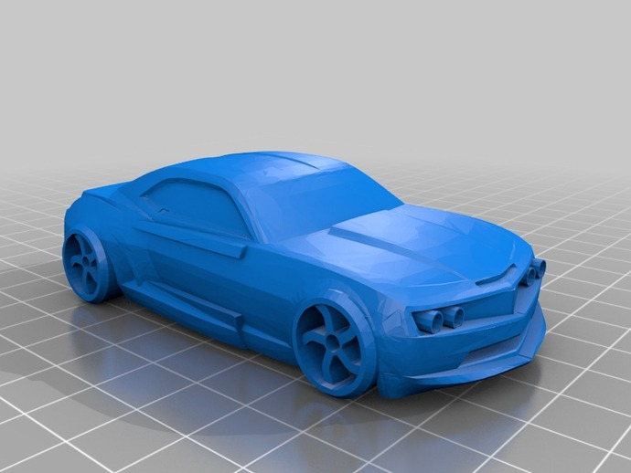 雪佛兰科迈罗汽车 3D打印模型渲染图