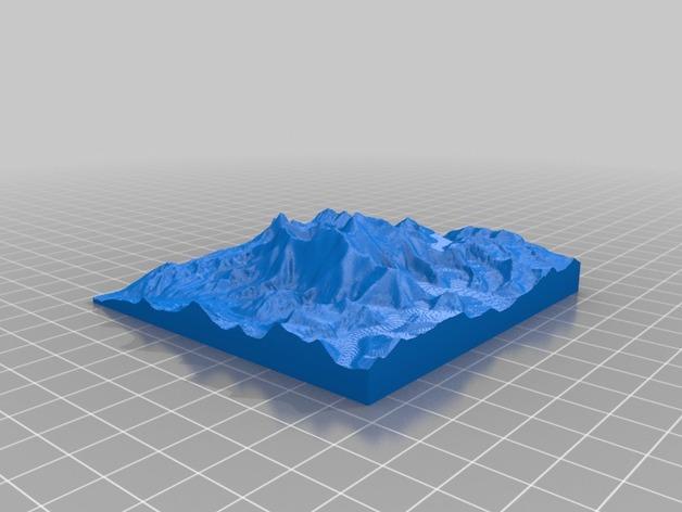 珠穆朗玛峰地形模型