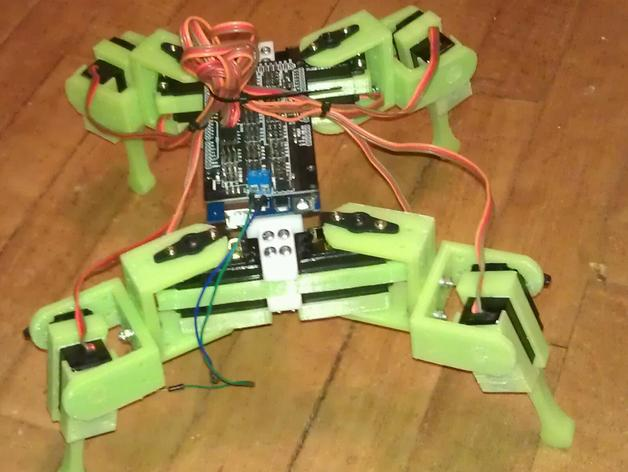 Anandromeda's AT-AS 四足机器人 3D打印模型渲染图