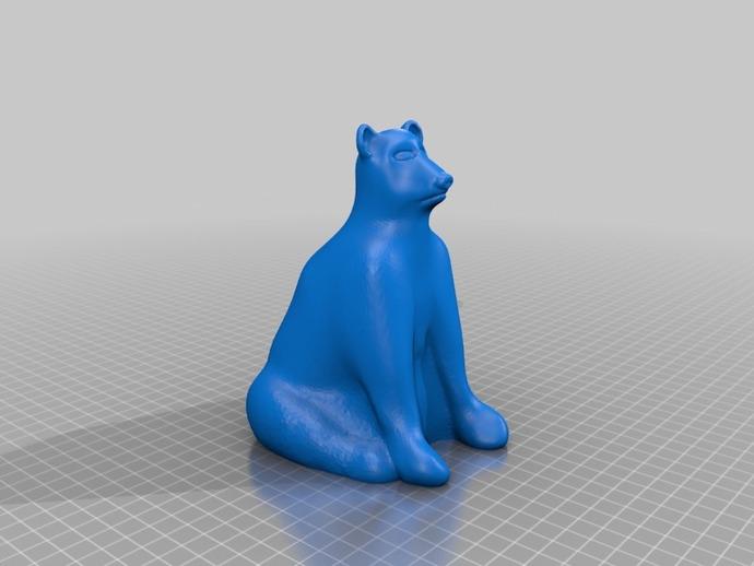 北极熊 3D打印模型渲染图