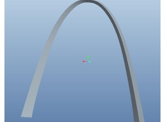 圣路易斯拱门 3D打印模型渲染图