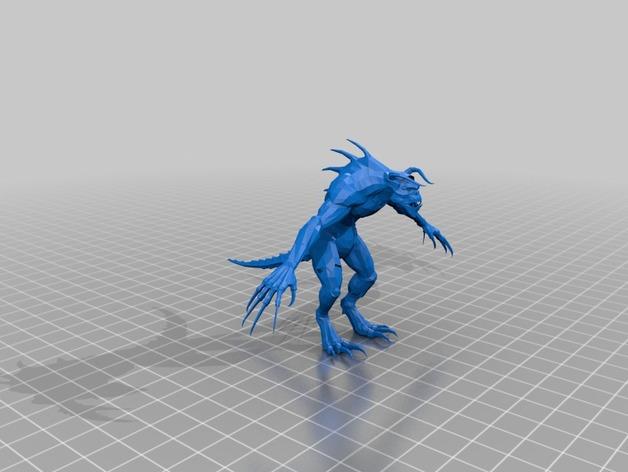 捕猎者死亡爪 3D打印模型渲染图