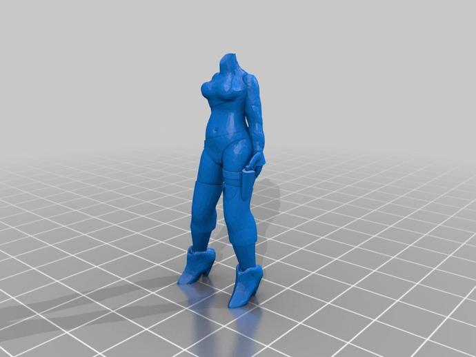 克隆人Jools Calixa 3D打印模型渲染图