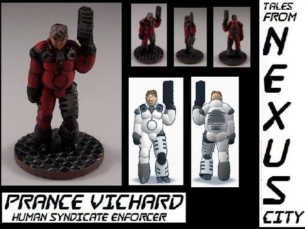 机械战士Prance Vichard 3D打印模型渲染图
